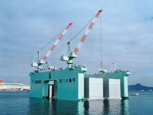 第八大亀号:ケーソン製作用作業台船